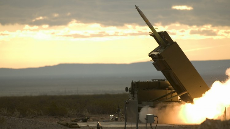 The final pre-acceptance trial of the GMLRS (Guided Multiple Launched Rocket System) at White Sands Missile Range, New Mexico, USA