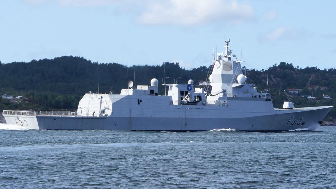 Kolizja norweskiej fregaty z tankowcem
