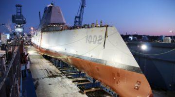 Trzeci niszczyciel typu Zumwalt zwodowany