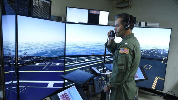 US Navy testuje symulator pokładu lotniskowca