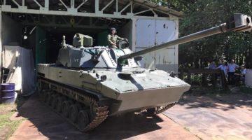 Premiera moździerza samobieżnego 2S42 Łotos