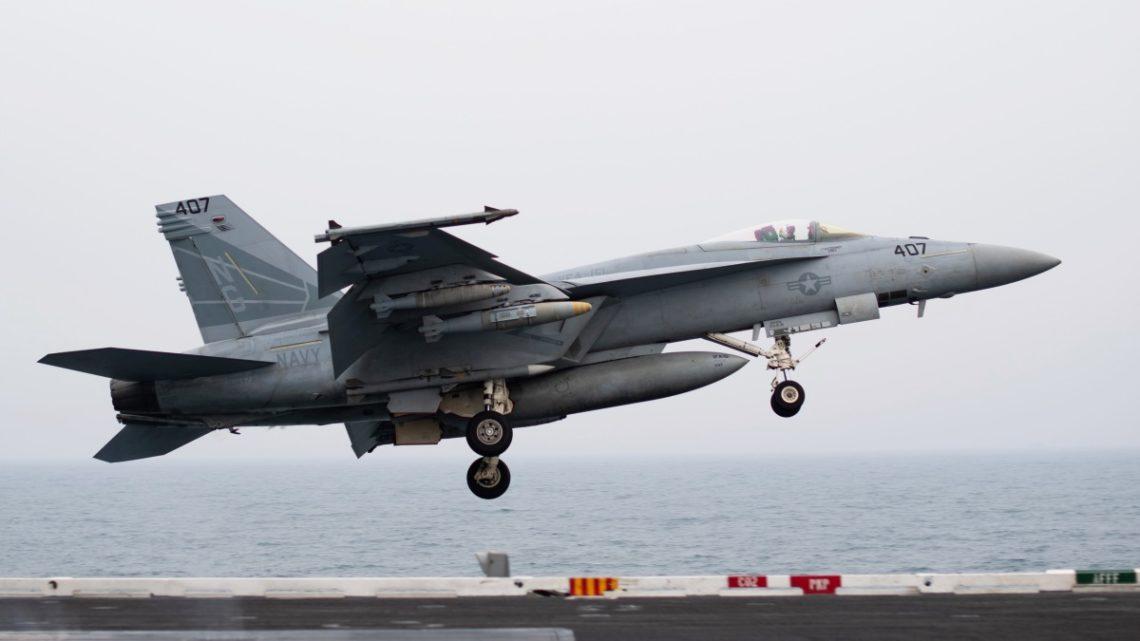 Wypadek Super Horneta w Kalifornii