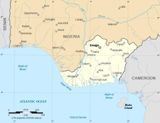 Biafra - mapa