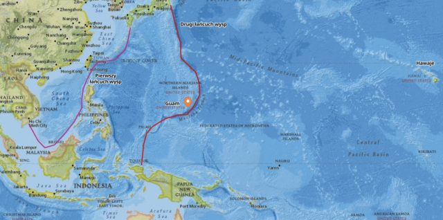 Mapa łańcuchów wysp