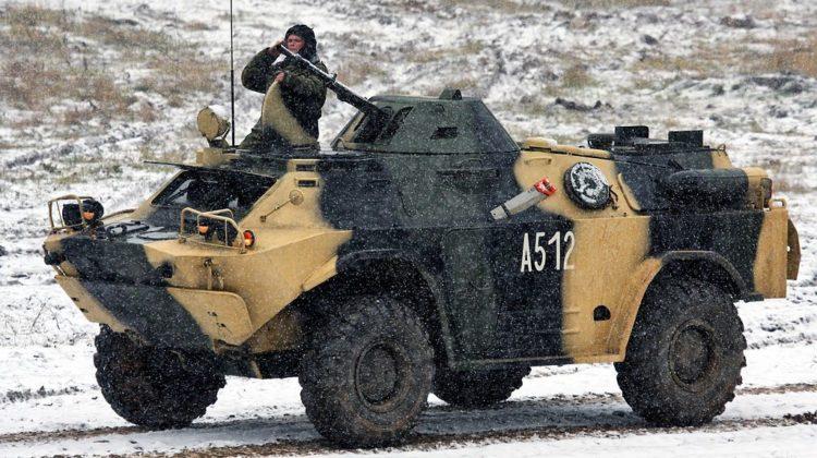 BRDM-2MB Biekas na pokazie poligonowym