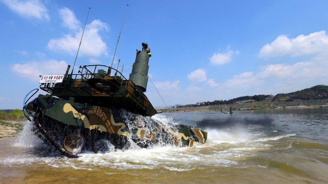 K2 Black Panther fording the river