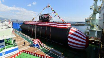 Wodowanie pierwszego okrętu podwodnego typu 29SS