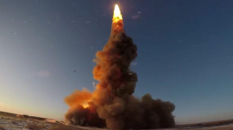 Nagranie z odpalenia pocisku systemu antybalistycznego A-135