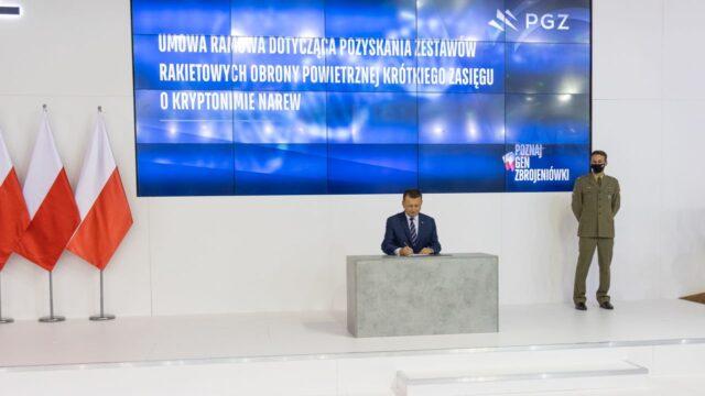 Konsorcjum PGZ Narew podpisało umowę ramową z IU w sprawie pozyskania zestawów rakietowych obrony powietrznej